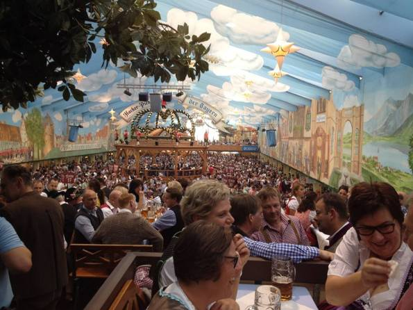 Inside the Tent at Oktoberfet