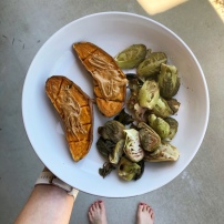 Sweet Potatos & Brussels